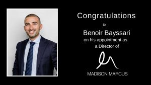 Madison Marcus appoints Benoir Bayssari as youngest ever Director.
