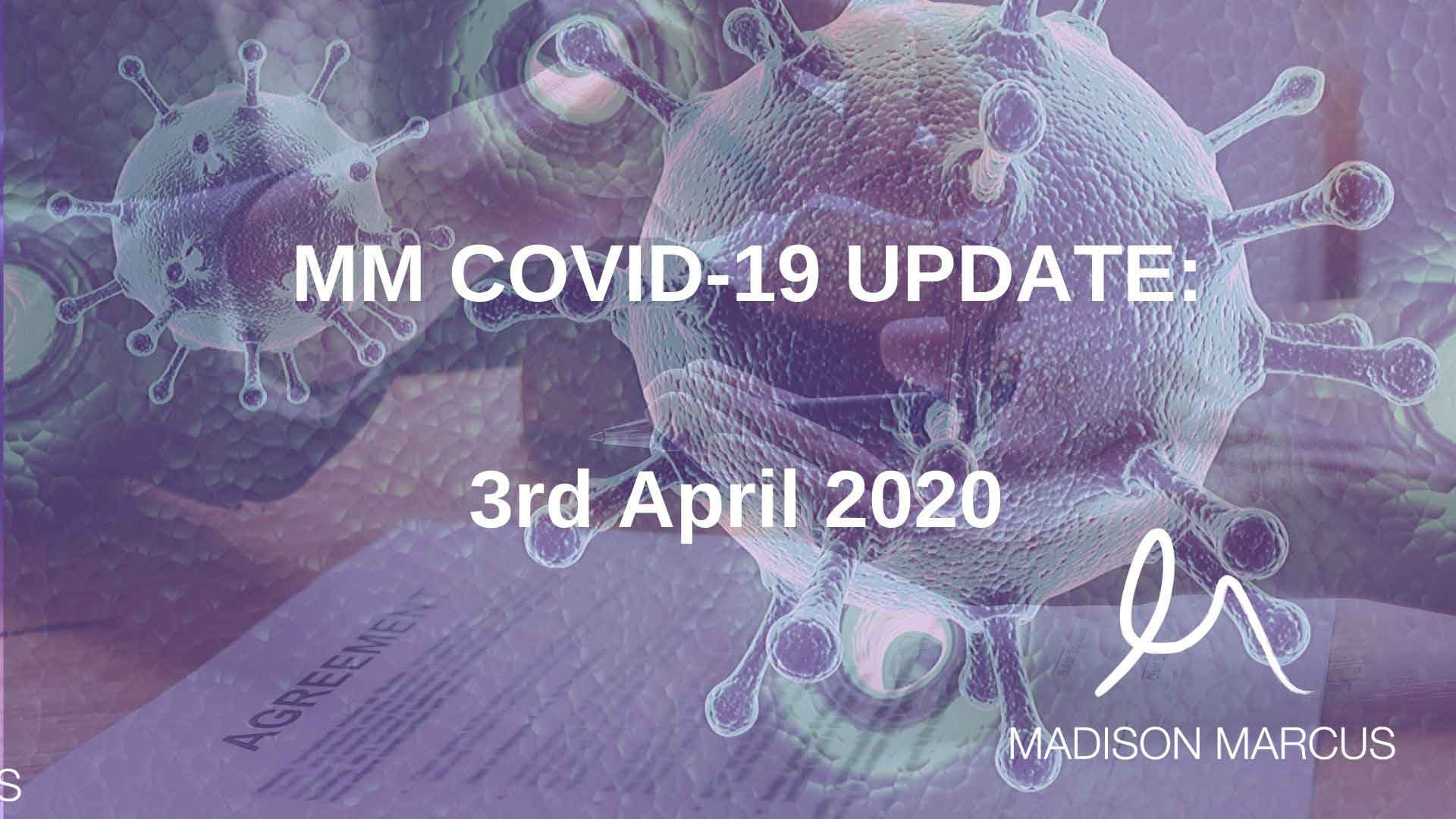 COVID-19 Update 3 April 2020: Commercial Tenancy Coronavirus Crisis Code of Practice coming to a contract near you next week.